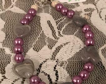 Fun gray heart bracelet
