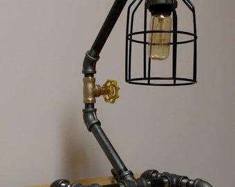 Industrial Pipe Lamp; Desk Lamp; Table Lamp