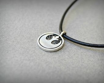 Star Wars Rebel Alliance Necklace Jewelry, Sci fi jewelry, Geek Star Wars Gift For Him For Her, 925 Sterling Silver