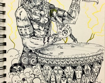 Original Illustration - Shango (Sketchbook)