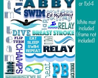 Personalized Swim Collage