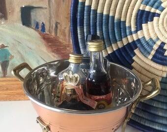 Vintage Copper Clawfoot Colander