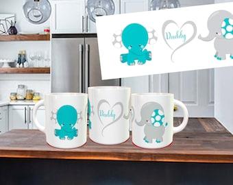Daddy Coffee Mug, Gift for Dad, Dad mug, Father's Day, Gift for Him, Gift from kids, Daddy Coffee cup, Best dad mug, Birthday gift for Dad
