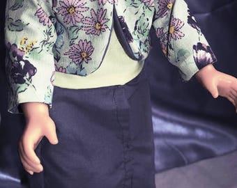 Purple Floral Open Jacket