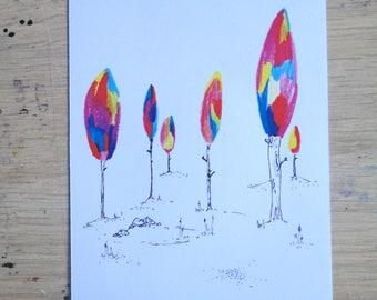 Postcard - Postalcard - Forest - landscape