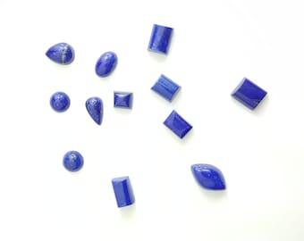 Natural Lapis Lazuli Cut Gemstone Cabochon- Various Shapes