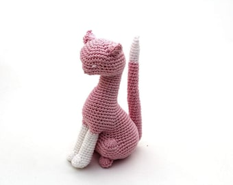 Crochet Cat Toy, Amigurumi Cat Toy, Stuffed Cat Toy, Soft Cat Toy, Cat Sky, Handmade Cat Toy, Finished Cat Toy