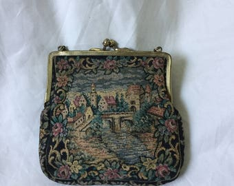 1920s small tapestry flapper purse.