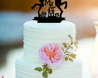 Customized Diving Wedding Cake Topper Mr And Mrs Scuba