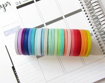 Multicolor washi tapes set / Masking tapes / ECLP Planner