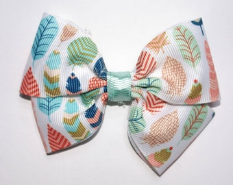 Pastel Feathers Boutique Hair Bow