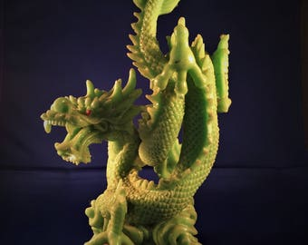 Imitation jade dragon, decorator item, curio, oriental, Asian,