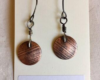 dangly copper disks