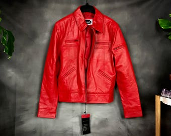 Laverappelle Red Leather Jacket ~ *NWT*