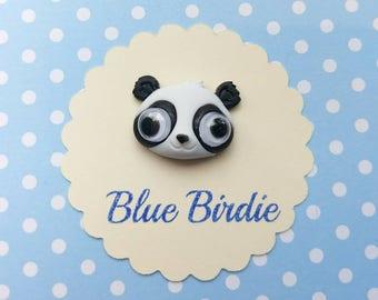 Cute Panda brooch google eyed panda brooch panda jewelry panda bear jewellery panda gifts panda jewelry panda jewellery kawaii panda