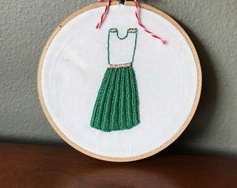 Little Green Dress Embroidery