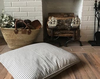 Dog Bed - French Ticking