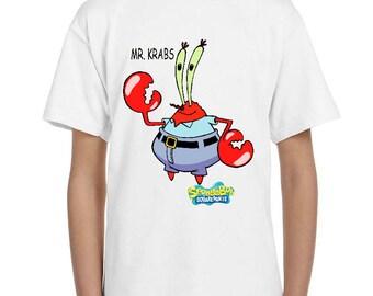 spongebob squarepants - MR. KRABS - childrens tv -  childrens  - t-shirt