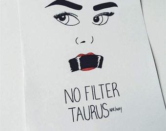 Taurus Star Sign Pop Art Poster