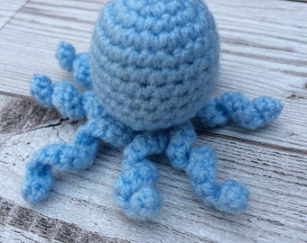 Crochet Octopus - Catnip Toys - Cat Toy - Cute Cat Toys - Blue Cat Toys - Crochet Cat Toys - Catnip Toy - Handmade Cat Toy - Catnip Cat Toy