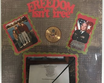 Military Freedom isn't Free 12 x 12 Premade Scrapbook Single