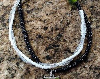Hippie Style Handmade Beaded Bracelet w/ Owl Charm