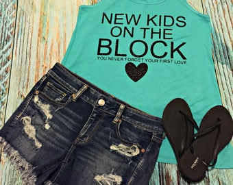 New Kids on the Block Concert Tank Top Concert You never forget your first love joey donnie jordan danny jonathan NKOTB Shirt