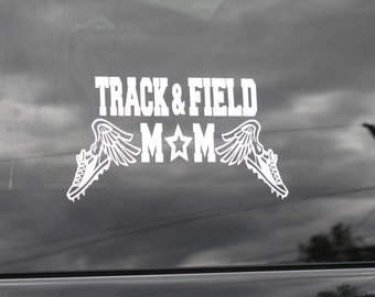 Track And Field Mom Decal/ Proud Track Mom Decal/ High School Track/ Track And Field Decal