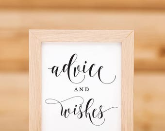 Advice And Wishes Wedding Sign Printable Download 02