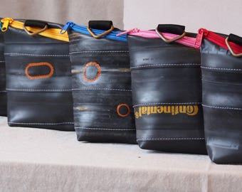 Upcycling, toiletry bags from bicycle tube, bags, toiletry bags, toiletry, cosmetic bag, travel bag, couch, vegan, bicycle tube