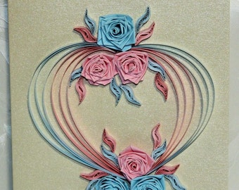 Map to the wedding, greeting card, quilling