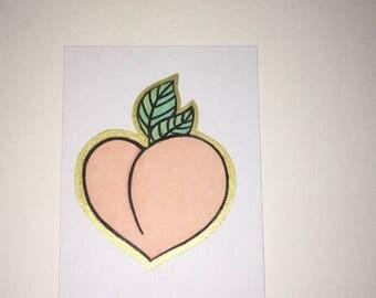 Peachy hand made wall art