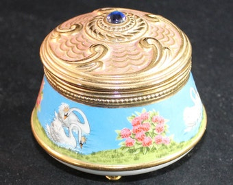 Swan Lake House of Faberge Imperial Music Box by Franklin Mint