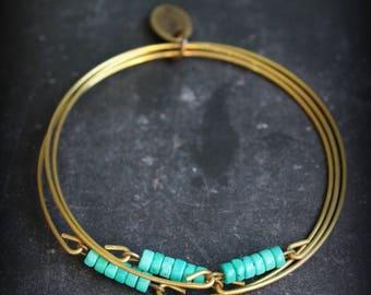 """Bracelet """"Yeshe"""" turquoise bangles"""