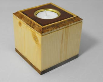 Wooden tealight holder box.
