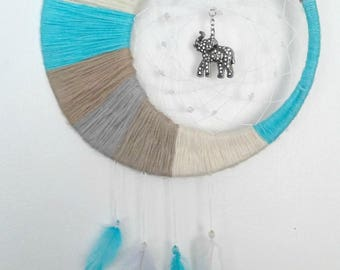 Elephant Dreamcatcher - Nursery Decor - Crescent Moon - For Baby's Room