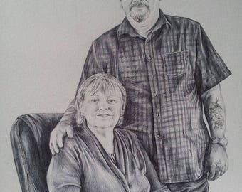custom portrait drawing pen/pencil