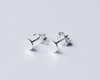 sterling silver earrings, stud earrings, silver post earrings, circle earrings, small earrings, simple earrings, minimalist earrings