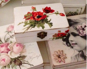 Poppy Print Decoupage Box