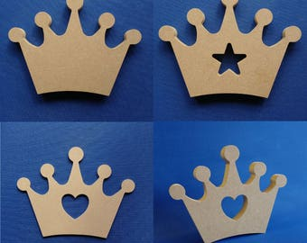 Crown Shape Three Options and 4/18mm mount/freestanding thick MDF Craft Blank