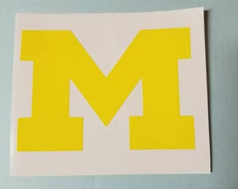 Michigan Yellow Decal