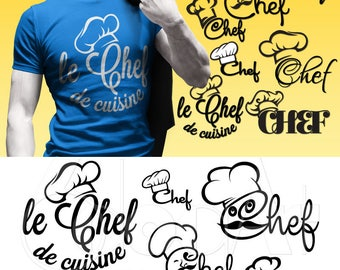 Chef Digital Cut Files Svg Dfx Eps Png Silhouette SCAL Cricut Cooking Kitchen Motivational Download for DIY Paper Vinyl Die Cutting JB-611