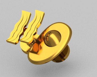 Classic Breakfast Cufflinks - Egg and Bacon