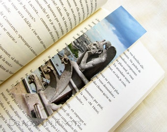 Gargoyle Bookmark - Notre Dame, Paris, France travel page marker, book accessory, European cathedral sculpture photo