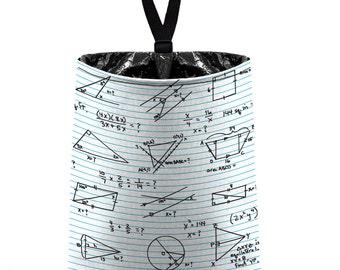 Car Trash Bag // Auto Trash Bag // Car Accessories // Car Litter Bag // Car Garbage Bag - Math Algebra Geometry School Teacher Chalkboard
