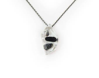 Tumbled Stones and Silver Leaf Eco-Resin Gemstone Necklace