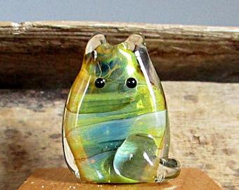 Cat Bead Handmade Lampwork Focal by teribeads - Duke FatCat