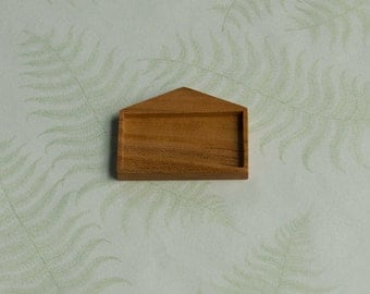 House bezel setting finished NO laser - Cherry wood - 25.5 x 46 mm cavity - (H725-Mp)