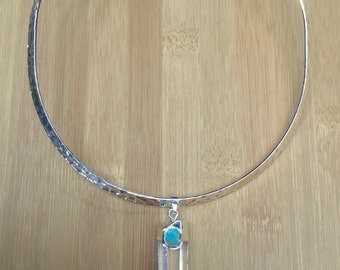 Luxe Hammered Choker Necklace