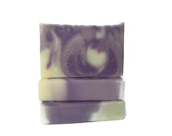 Lavender Essential Oil Soap - Artisan Design with Swirls